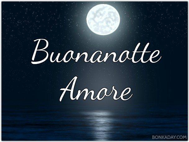 Buonanotte Amore Con Mare E Luna