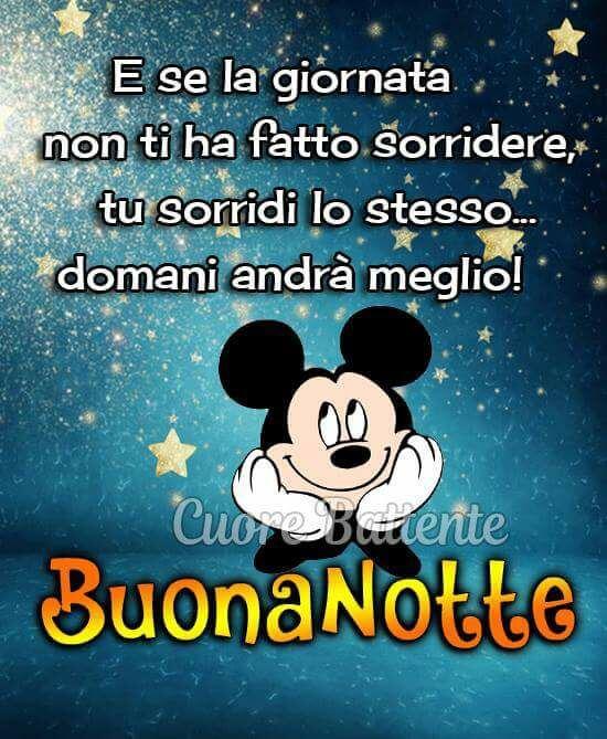 Immagine Buonanotte Con Frase Divertente Disney Topolino