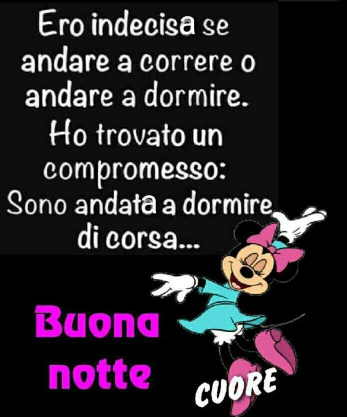 Immagini Buonanotte Disney E Minnie Con Frase Divertente
