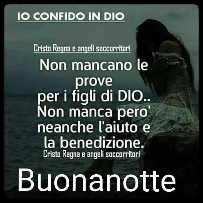 Immagine Buonanotte Sacra Preghiera